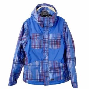 Oakley Plaid Thinsulate Baggy Fit Snow Jacket